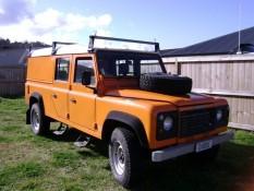 Electricians Orange truck Diode Electrical Services Ltd