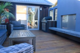 Simpsons Beach House outdoor deck area Studio 77 Architecture and Design Consultants