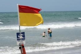 Hotwater beach flags near whitianga