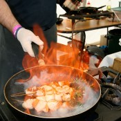 Flamin good scallops. Image credit Whitianga Scallop Festival.