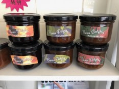 Carma Delights Whenuakite chutneys sold at Whitianga Butchery