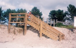 Beach staircase constructed by Testdrill Whitianga