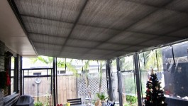 Outdoor sun mesh covers Mercury Bay Canvas & Upholstery