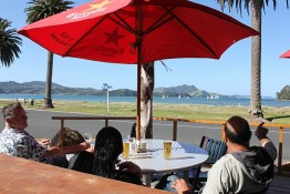 Beach views from Enigma on The Esplanade Restaurant
