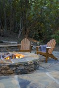 Example paved area with fire pit
