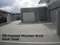 Exposed aggregate driveway coastal concreting Whitianga