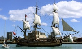 Endeavour Ship Replica Captain Cook & Kupe - Tuia 250 Encounters Commemoration