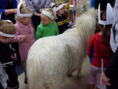 Toddler time horsing around at Mercury Bay Library Whitianga