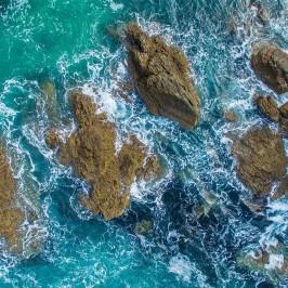 Opito Bay rocks