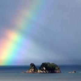 Rainbow over Centre Island, Whitianga