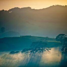 Mist over Whitianga hills