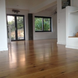 Whangapoua oak floor sanded and re-coated