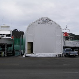 Under cover boat maintenance