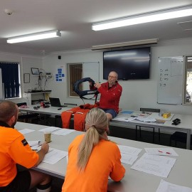 Whitianga Volunteer Coastguard briefing session personal safety