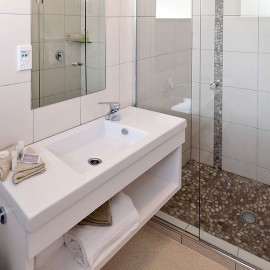 White sink with towels