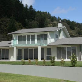Two storey home on hillside