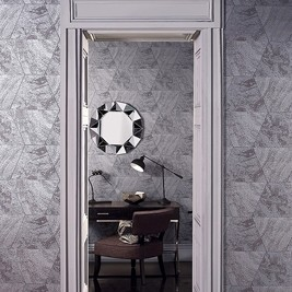 White door frame and mirror