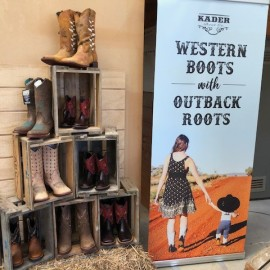 Kadar boots on display