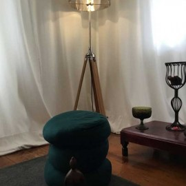 Lamp and stool