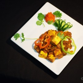 Curry on white plate