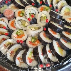 Large tray of sushi