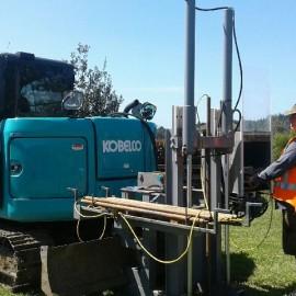 Digger Drill Rig Testdrill NZ Whitianga