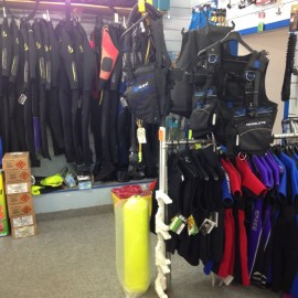 Pro Diving Gear, wetsuits, fins, snorkels