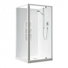 Clearlite Sierra-900x900-2-Sided-Moulded-Wall-White-Shower