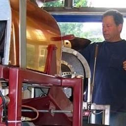 Man at coffee roaster