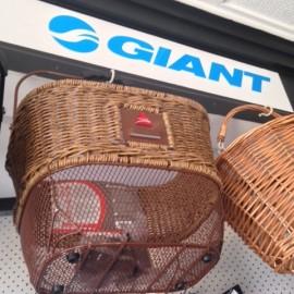 Baskets and Giant bike accessories at the Bike Man Shop Whitianga