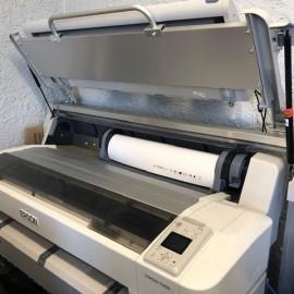 Large printer open