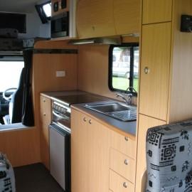 Kitchen in camper van