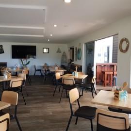 Indoor seating Stoked Restaurant Whitianga