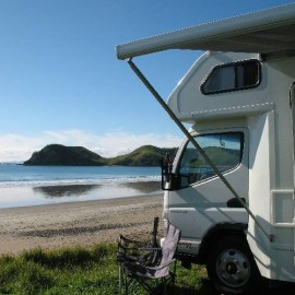 Campervan at beach