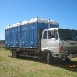 Porta loos on truck