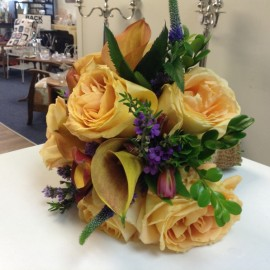 Yellow bouquet of flowers
