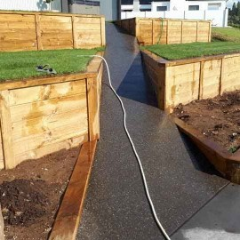High Country Landscapes path and retaining