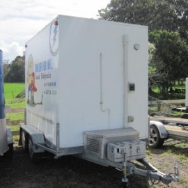 Portable mobile chiller and refrigeration