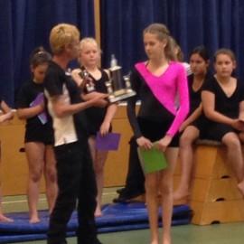 Awards ceremony Mercury Bay Gymnastics