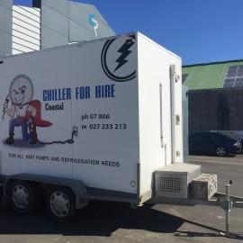 Mobile chiller on trailer