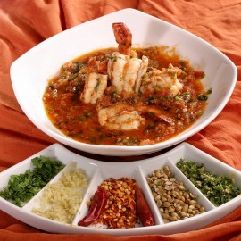 Prawns with spices