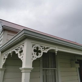 Old wooden house with fretwork