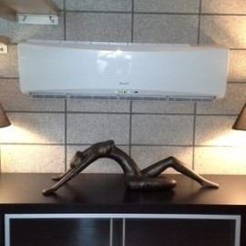 Heat pump and two lamps