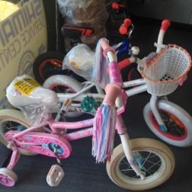 Cute little kids girls bike at the Bike Man Shop Whitianga