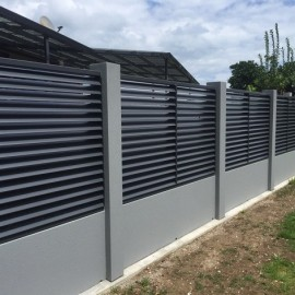 Black and grey fence
