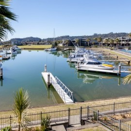 Sovereign Pier on the Whitianga Waterways - apartment aerial view