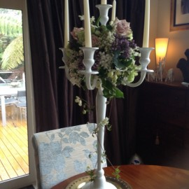 Flowers and candelabra