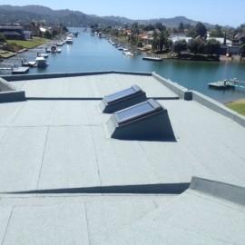 Pauanui Waterways rooftop waterproofing membrane
