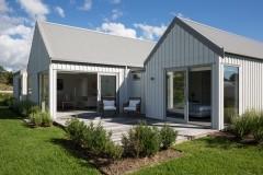 Grey house and garden