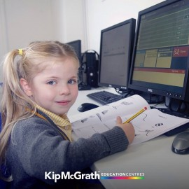 Small girl at computer